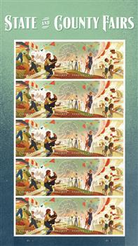 2019 State and County Fairs mint sheet