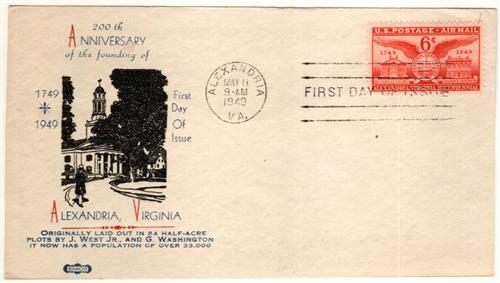 1949 Alexandria First Day Cover