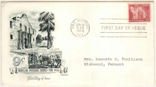 1956 The Alamo Classic First Day Cover