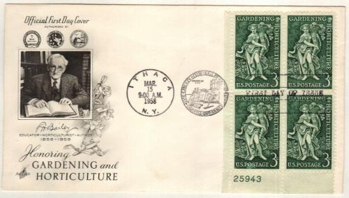 Gardening & Horticulture Plate Block First Day Cover