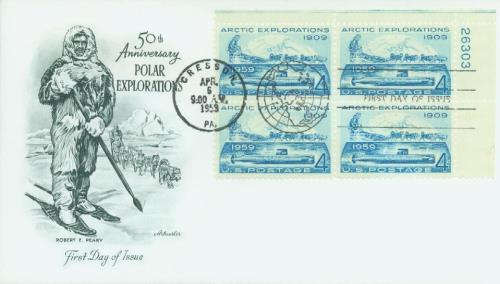 1959 Arctic Exploration Classic First Day Cover