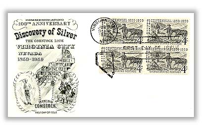 1959 Comstock Lode Fleetwood First Day Cover