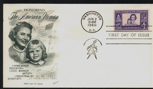 1960 4¢ American Woman Fleetwood First Day Cover