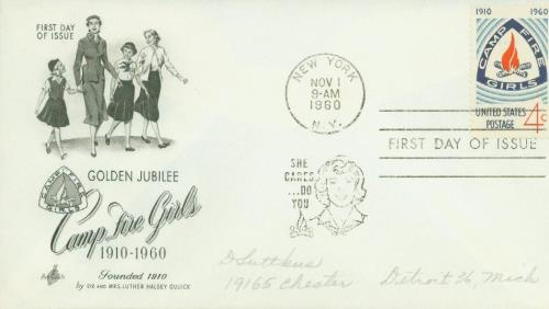 1960 Camp Fire Girls Classic First Day Cover