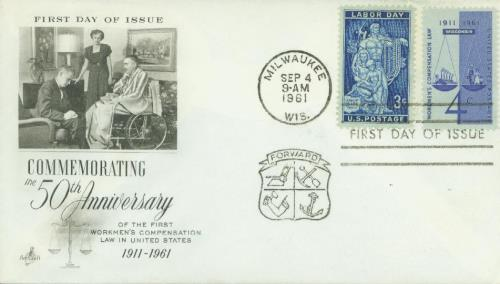 1961 Workmen's Compensation Classic First Day Cover