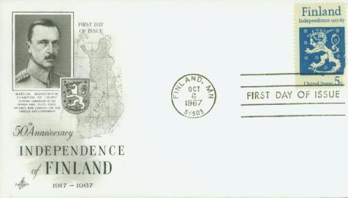 1967 Swedish Independence Classic First Day Cover