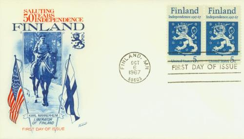 1967 Finnish Independence Fleetwood First Day Cover