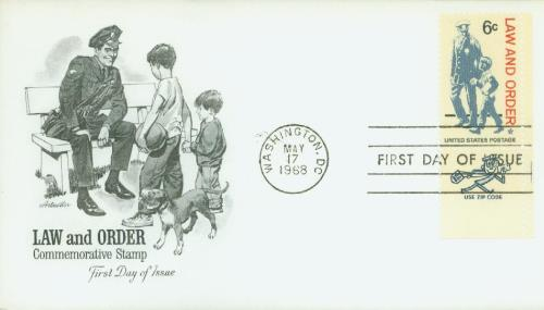 1968 Law and Order Classic First Day Cover