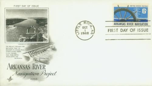 1968 Arkansas River Navigation Classic First Day Cover