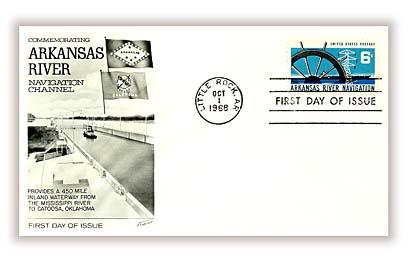 1968 Arkansas River Navigation Fleetwood First Day Cover.