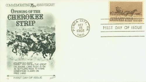 1968 Cherokee Strip Classic First Day Cover