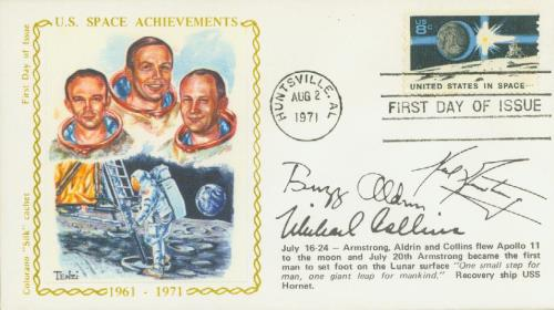 Colorano Silk Cachet First Day Cover picturing the astronauts of the Apollo 15 mission.