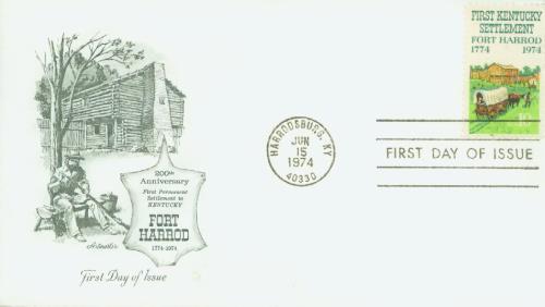 1974 Kentucky Settlement Classic First Day Cover
