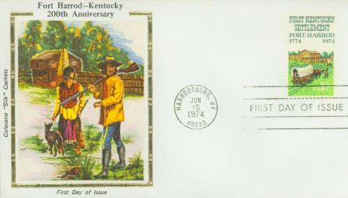 1974 Kentucky Settlement Silk Cachet First Day Cover
