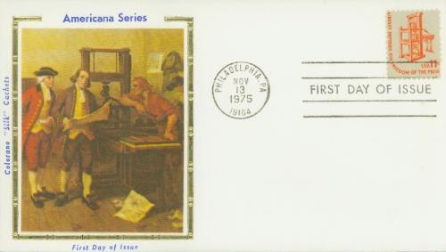 Printing Press Colorano Silk Cachet First Day Cover