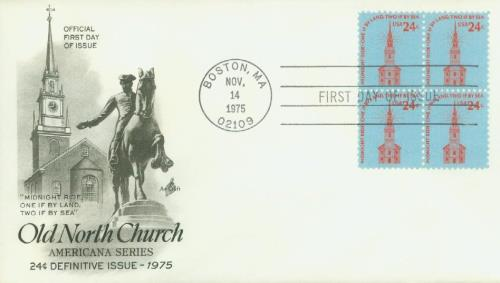 Old North Church Classic First Day Cover