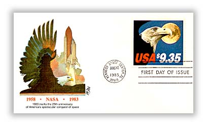 1983 $9.35 Eagle and Moon Fleetwood First Day Cover