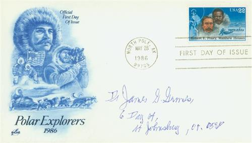 1986 Peary and Henson Classic First Day Cover