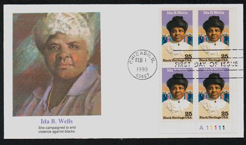 1990 Wells Fleetwood Plate Block First Day Cover