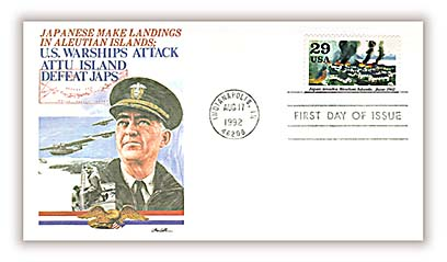 1992 Aleutian Islands Fleetwood First Day Cover.