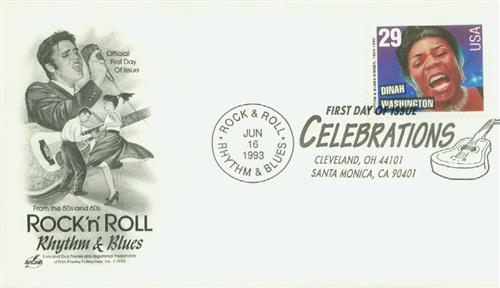 1993 29¢ Dinah Washington Classic First Day Cover