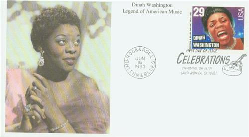 1993 Dinah Washington Mystic First Day Cover