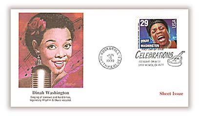 1993 Dinah Washington, booklet single Fleetwood First Day Cover