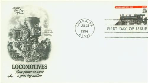 1994 29¢ Locomotives: Buchanan's #999 Classic First Day Cover