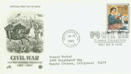 1995 32¢ Civil War: Phoebe Pember stamp