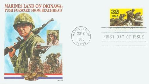 1995 Okinawa Fleetwood First Day Cover