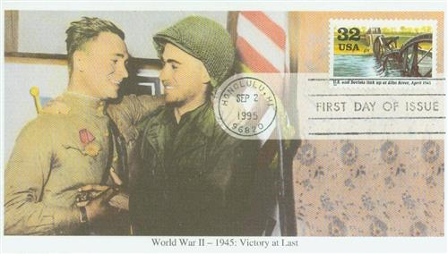 Link-up at Elbe River Mystic First Day Cover.