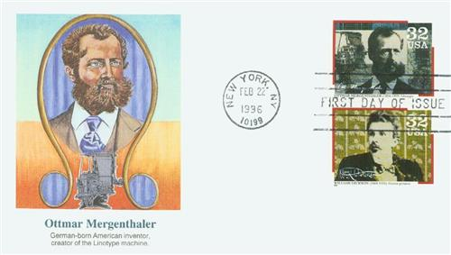 1996 Mergenthaler Fleetwood First Day Cover