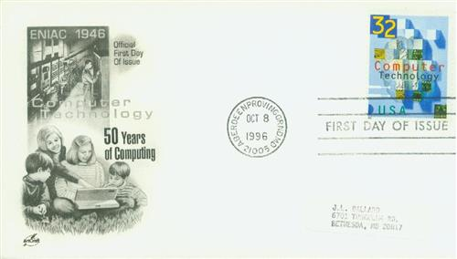 1996 Computer Technology Classic First Day Cover