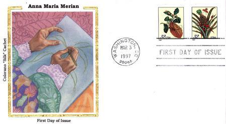 Merian Silk Cachet First Day Cover