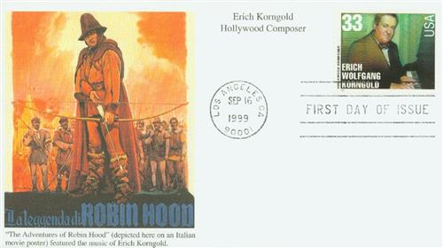 1999 Korngold Mystic First Day Cover