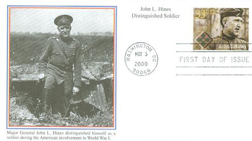 John L. Hines Mystic First Day Cover