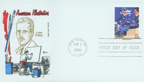 2001 34¢ Coles Phillips Classic First Day Cover