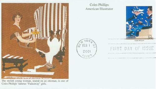2001 34¢ Coles Phillips Mystic First Day Cover