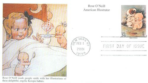 2001 Rose O'Neill Mystic First Day Cover