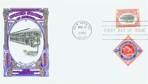 2001 2¢ Pan-American Invert Reproduction Classic First Day Cover