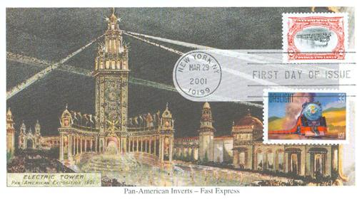 2001 2c Pan-American Invert Reproduction Mystic First Day Cover