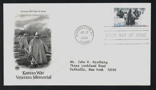 2003 Korean War Veterans Memorial Classic First Day Cover.