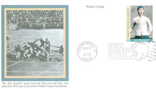 Walter Camp Mystic First Day Cover