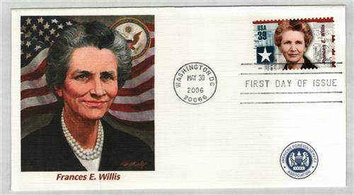 Frances Willis Fleetwood First Day Cover
