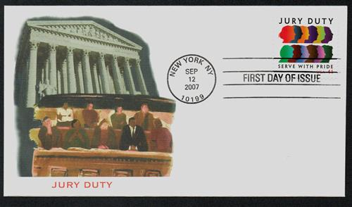 2007 41¢ Jury Duty Fleetwood First Day Cover.