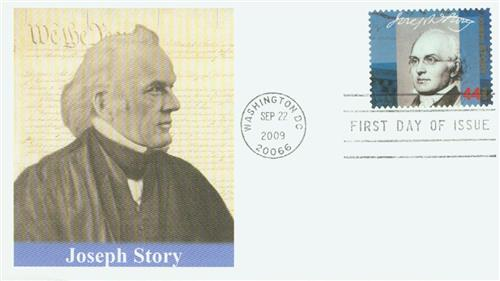 2009 44¢ Supreme Court Justices: Joseph Story Fleetwood First Day Cover