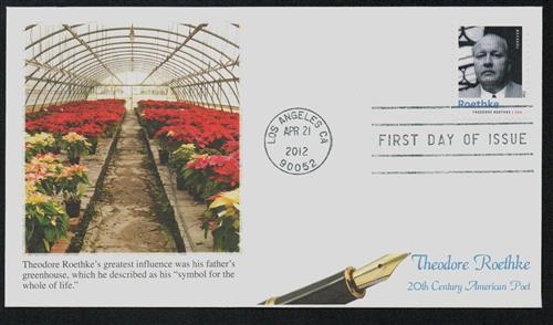 2012 Roethke Fleetwood First Day Cover