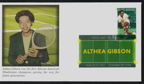 2013 Althea Gibson Fleetwood First Day Cover with Digital Color Postmark.