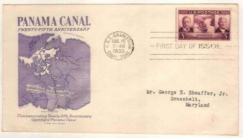 1939 Panama Canal Classic First Day Cover