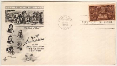 1948 3¢ Indian Centennial Classic First Day Cover